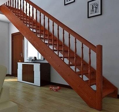 одномаршевая лестница из дерева