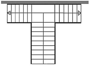 Т - образные лестницы. Ограждения